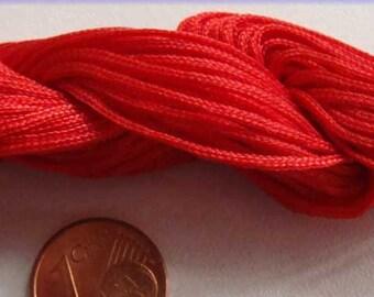 Fil Echeveau 25m nylon tressé 1mm ROUGE DIY création bracelet shamballa