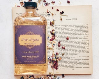 Pride and Prejudice Bubble Bath/Shower Gel/Body Wash - Jane Austen Book Lovers Gift