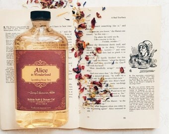 Alice in Wonderland Bubble Bath/Shower Gel/Body Wash - Book Lovers Gift