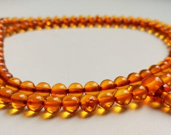 CHANGE - 108 baltic amber mala for meditation (size Ø6 colour 3)