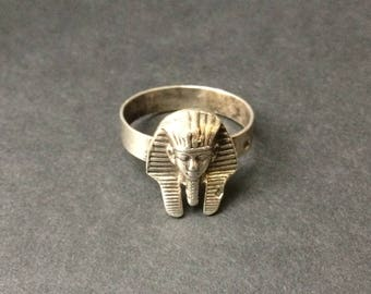 King Tutankhamun Silver Ring - Pharaonic - Ancient Egypt - Made in Cairo