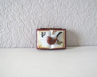 Limoges Trinket Box, Vintage Trinket Box,Peint A La Main,Pill Box,Limoges Box,Trinket Box Vintage,Trinket Box with Lid,Miniature Trinket Box