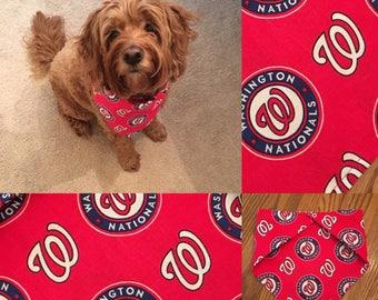 Nationals Dog Bandana with Breakaway Snap Closure