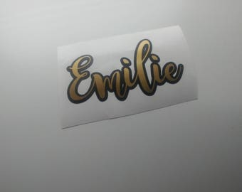 Custom Name Decal Etsy - Sticker custom vinyl decals for carcustom vinyl decals and stickers by stickythingz on etsy