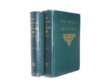 1905 Apples of New York Beach Booth Taylor NY Agricultural Farming Agriculture First Edition 2 Volumes