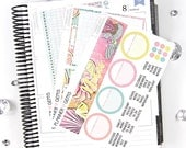Summer Monthly Notes Page Planner Kit | ~100 Stickers | Planner Stickers | For Erin Condren LifePlanner