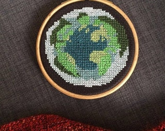 Planet Earth cross stitch