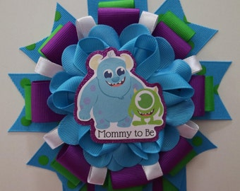 Monsters Inc inspire baby shower corsage