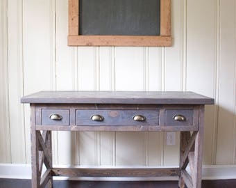 Custom Farmhouse Desk - Office Desk