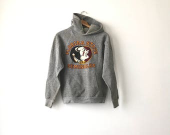 FLORIDA STATE HOODIE // 80s // Xs - Small // Florida State // Flordia State Hoodie // Fsu Hoodie // Fsu Sweatshirt // Florida State // 80s