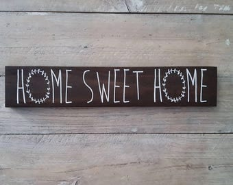 Home Sweet Home Sign | Wood Signs | Rustic Farmhouse | Shabby Chic | Rustic Decor | Reclaimed Home Decor | Repurposed Wood