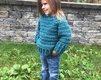 Sweater, crochet sweater, handmade sweater, Lark sweater, adult sweater, pullover sweater, Cozy sweater, soft sweater child sweater