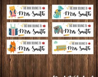 School Labels, Teacher Labels, Book Labels, Backpack Labels, Address Labels