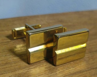 Gold Bar Cuff Links Cufflinks