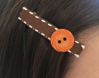 Adorable Button Barrette/Hair Clip