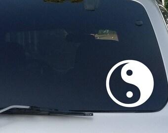 Yin Yang Decal, Car Window Decal, Bumper Sticker, Yin Yang Stickers, Peace, Yin and Yang, Yin Yang Symbol, Chinese Symbol
