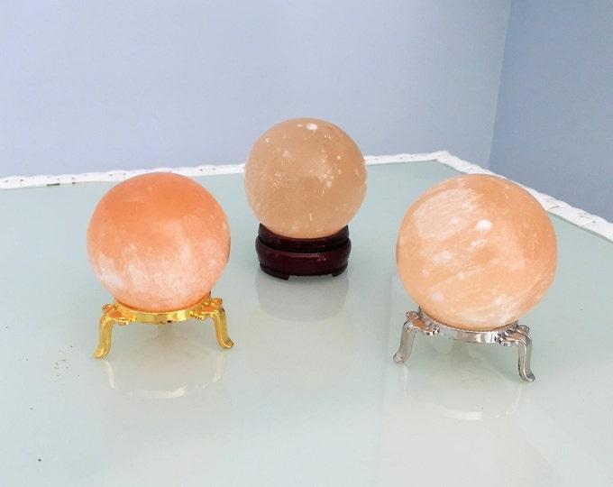 Crystal Ball- Selenite Sphere- Altar Tool infused with Reiki