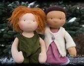 custom Waldorf doll, steiner doll, simple handmade doll, all-natural cloth doll, rag doll, wool stuffed doll, custom made — DEPOSIT