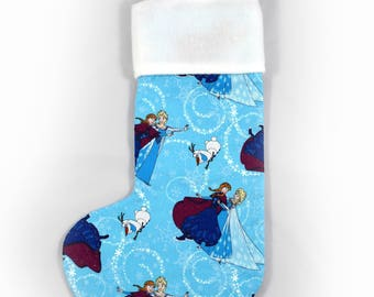 Frozen Disney Princess Christmas Stocking. Great Christmas decoration or gift idea for princesses and lovers of all things fairytale.