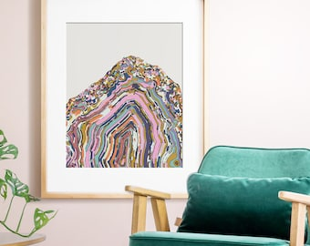 Abstract art, PRINTABLE art, Wall art, Agate photo, Agate print, Modern minimalist, Modern art, Abstract print, Agate art, Colorful art