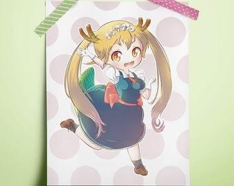 "Miss Kobayashi's Dragon Maid (Tohru) 8.5"" x 11"" Print"