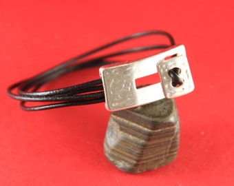 4/2 MADE in EUROPE zamak toggle clasp, rectangular toggle clasp , silver toggle clasp (ng0668-027) Qty1