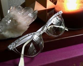 Liberty Cat Eye Glasses, Cat Eye Glasses, Vintage Cat Eye, Cat Eye Frames, Vintage Eyewear, Vintage Eyeglasses, Retro Eyeglasses, Cat Eyes