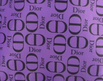Dior Inspired Designer Print Spandex Fabric By The Yard