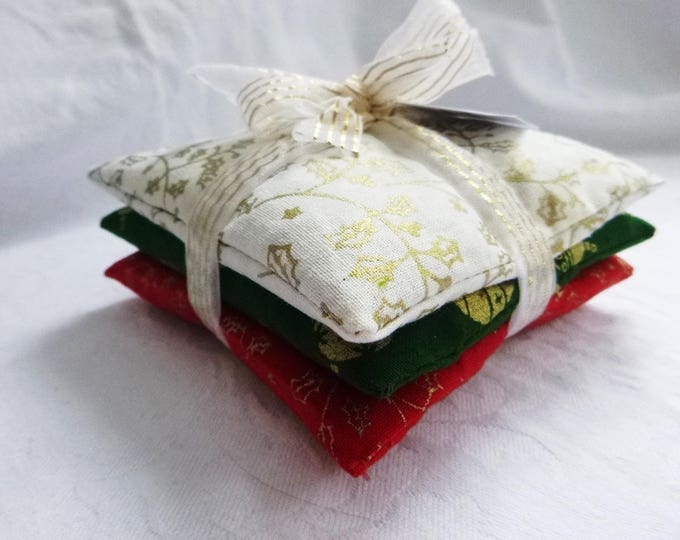 Christmas Gift, Lavender Sachets, Lavender Pillows, Set Of Three  Drawer Scented Pillows, Birthday Gift, New Home Gift,