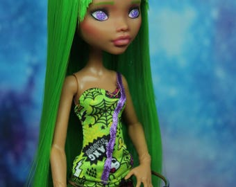Monster High Custom Repaint Art doll OOAK Clawdeen Wolf