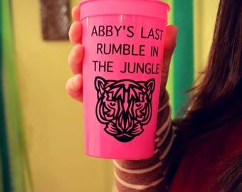 Rumble In The Jungle Bachelorette Party Stadium Cups, Safari Themed Bachelorette Party