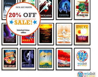 NASA Travel Posters Pick and Mix - Highest Quality Guaranteed