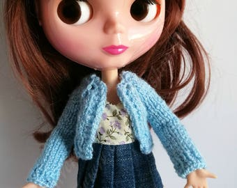 Handmade cardigan for Blythe and Momoko dolls