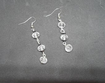 Crystal beads and seed bead earrings