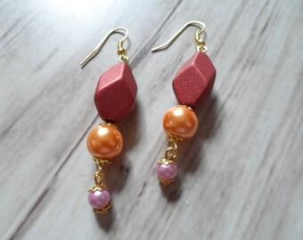 Earrings diamond and pearls