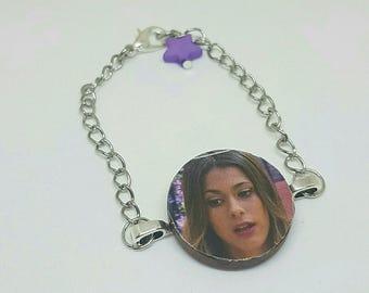Bracelet chain Violetta and star beads