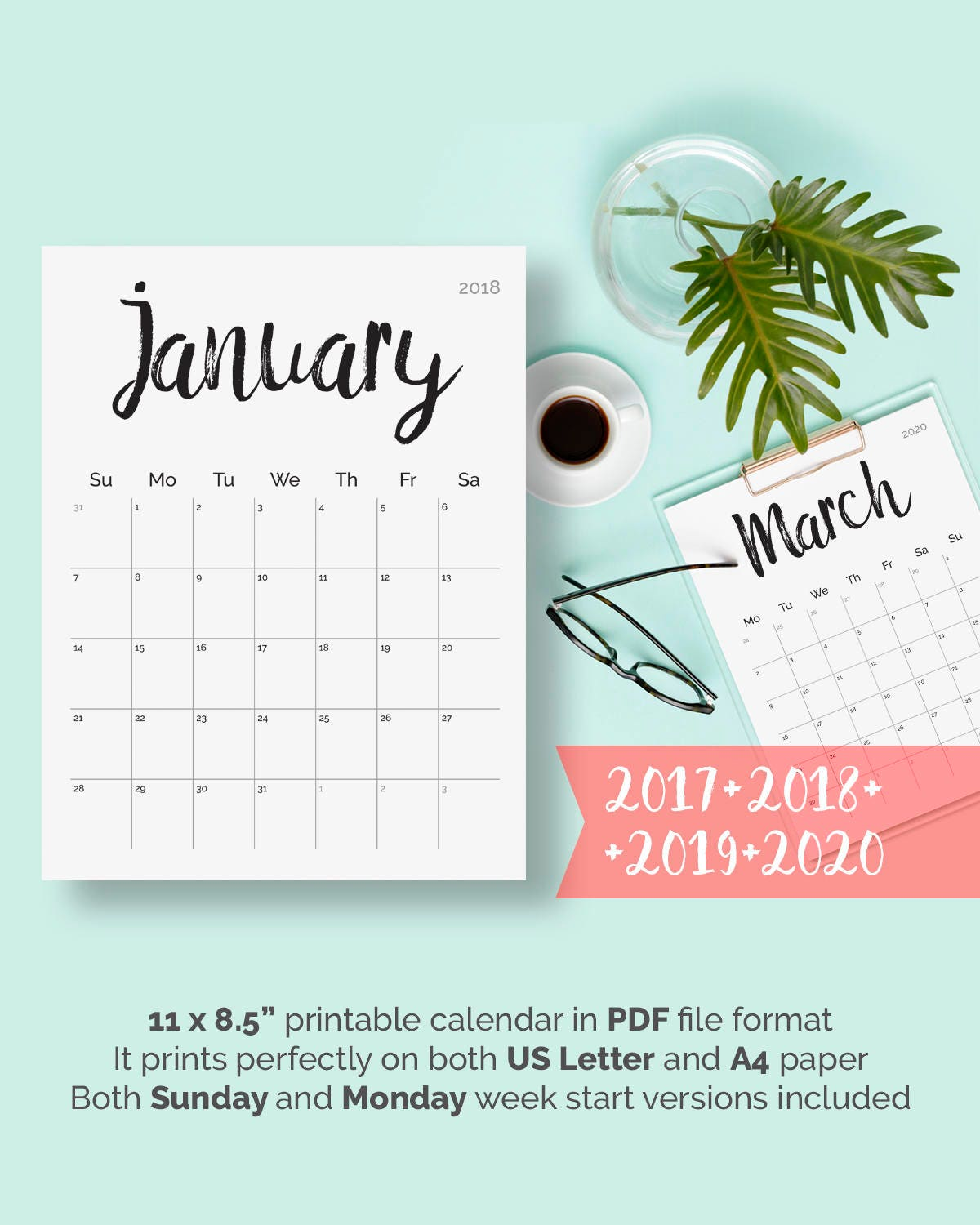 It is a photo of Tactueux Free Printable Planner 2020 Pdf