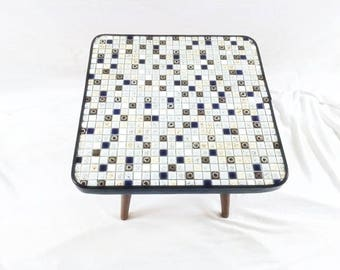 Vintage Mosaic Plant Table Vintage Mosaic Side Table Vintage Mosaic Plant Stand
