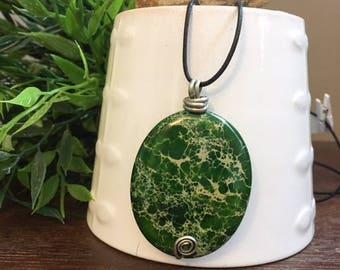 Large gemstone necklace