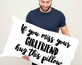 Personalized Long Distance Relationship PIllowcase, Boyfriend, Girlfriend, Friend, I miss you Gift