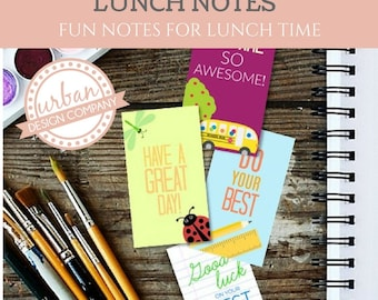 Lunch Bag Notes for Kids, Back to School Notes, Assorted Lunch Bag Notes, 50 Printable Cards - Instant Download