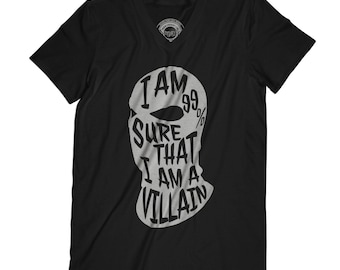 Fathers day gift villain shirt funny t-shirt husband gift for men father present bad boy gift tshirt with humor APV23