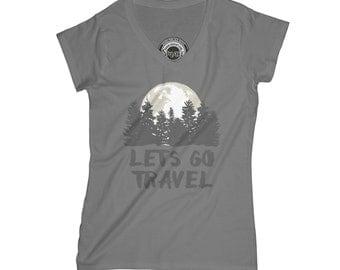 Lets go travel t-shirt adventure t shirt mountains shirt forest t shirt exploring shirt hike tshirt stars t-shirt  APV55