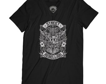 Biker t-shirt motorcyclist t-shirt rider t shirt skeleton tshirt wings t-shirt hipster t-shirt grunge t-shirt goth t-shirt vamp tshirt APV81