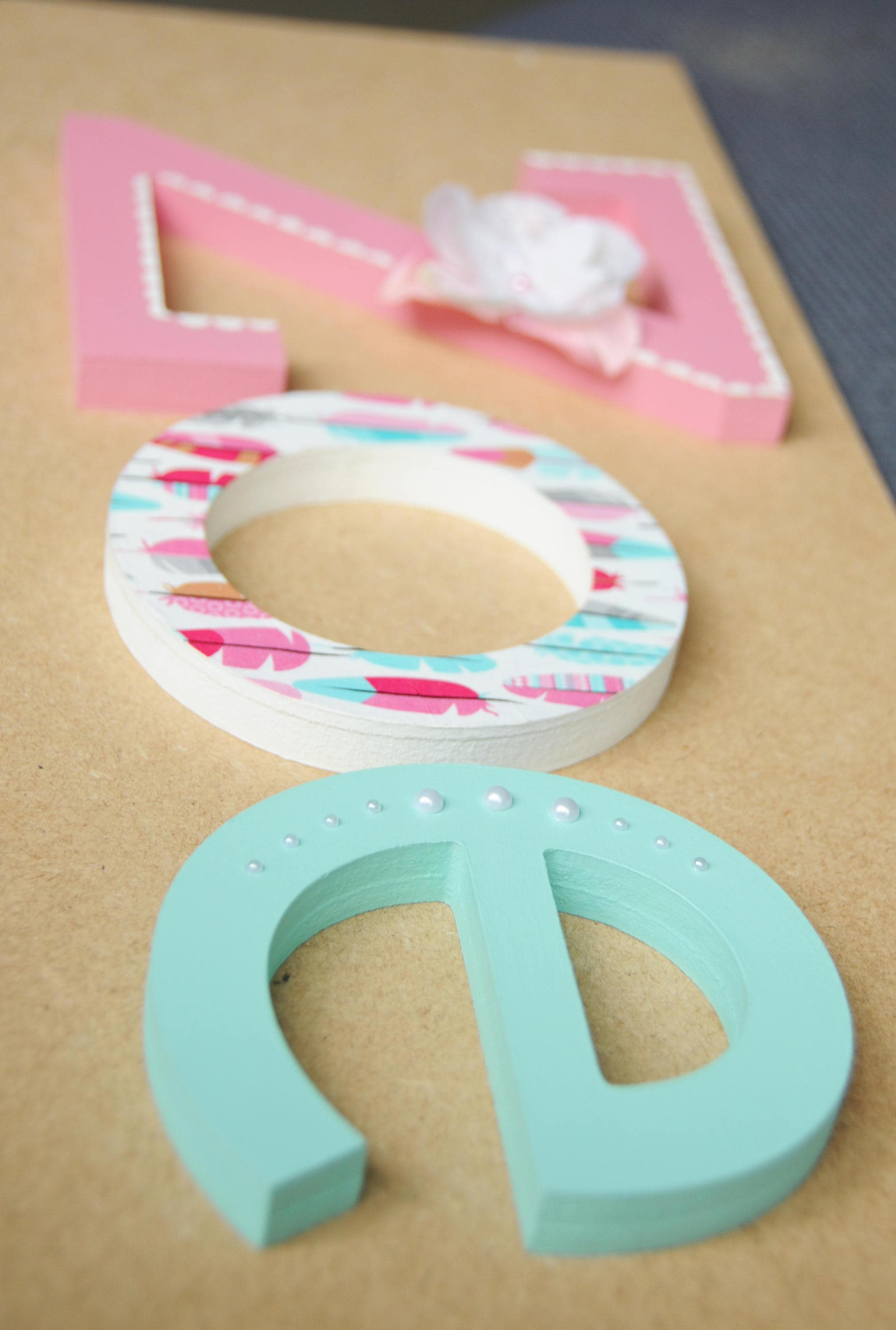 Wooden letter name, Hand painted and decorated wooden letters for ...