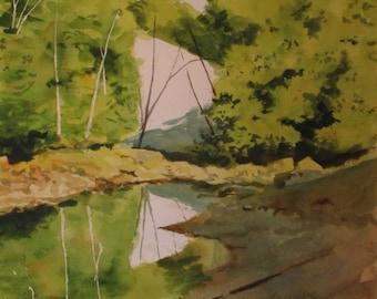 Original Watercolor: From The Bridge