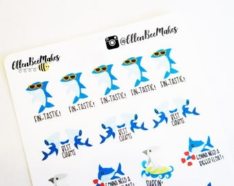 Shark Decorative Pun Stickers