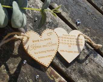 wooden save the date magnet, wedding stationery, wedding invitation, 2 sided save the dates, rustic save the date,  save the date, wedding,