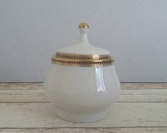 SALE East German Porcelain Sugar Bowl // Kahla // Made in GDR // Vintage German Porcelain