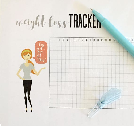 Poster Weights Etsy: Weight Loss Tracker A5 Insert Print At Home PDF For Bullet